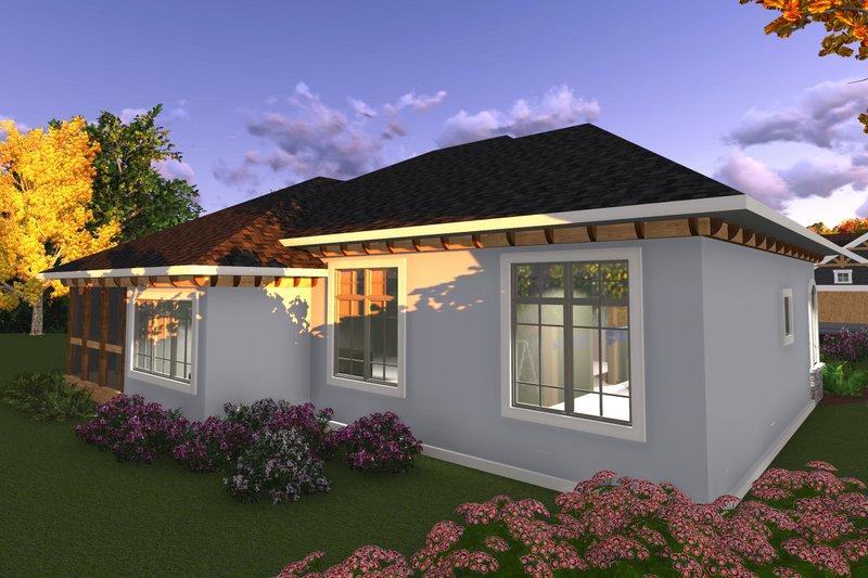 Ranch Exterior - Rear Elevation Plan #70-1240 - Houseplans.com