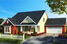 Cottage Exterior - Front Elevation Plan #513-2175