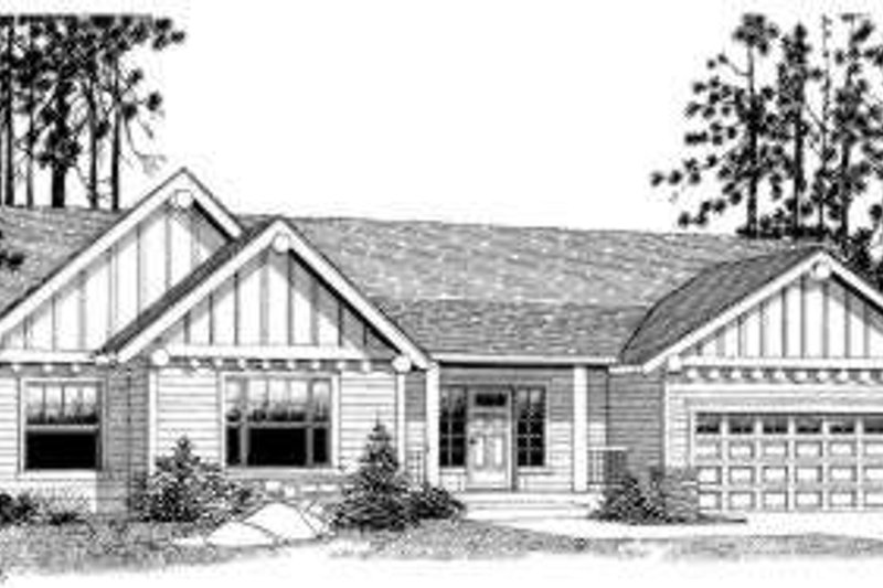 Traditional Style House Plan - 3 Beds 2 Baths 1505 Sq/Ft Plan #53-371