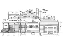 Architectural House Design - Colonial Exterior - Other Elevation Plan #3-257