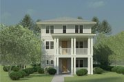 Craftsman Style House Plan - 3 Beds 3 Baths 3735 Sq/Ft Plan #926-5 Exterior - Front Elevation