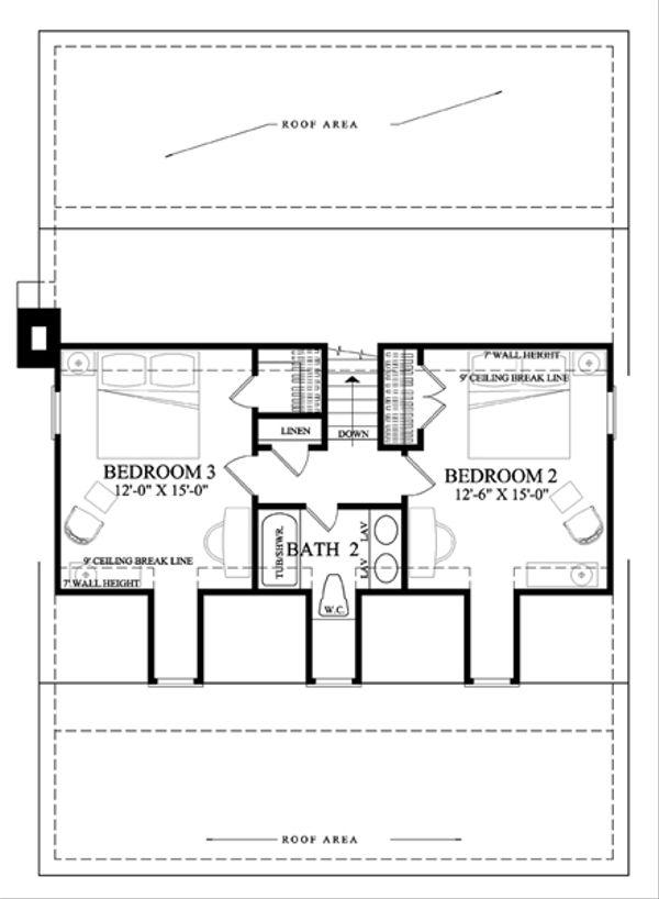 Country Floor Plan - Upper Floor Plan Plan #137-264