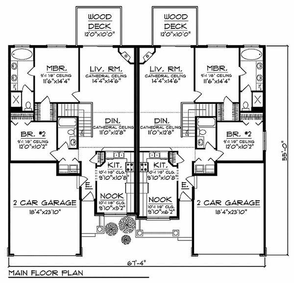 Traditional Floor Plan - Main Floor Plan Plan #70-942