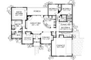 Mediterranean Style House Plan - 5 Beds 2.5 Baths 2394 Sq/Ft Plan #80-158 Floor Plan - Main Floor
