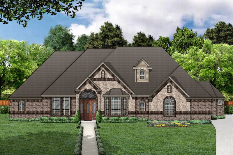 European Exterior - Front Elevation Plan #84-416
