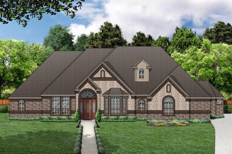 Dream House Plan - European Exterior - Front Elevation Plan #84-416