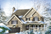 Country Style House Plan - 4 Beds 2 Baths 3500 Sq/Ft Plan #25-4684 Exterior - Front Elevation