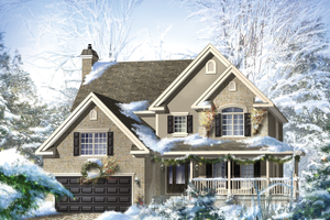 Country Exterior - Front Elevation Plan #25-4684