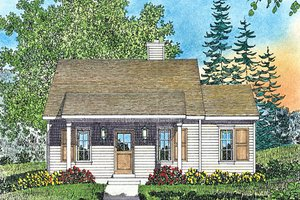 Cottage Exterior - Front Elevation Plan #22-591