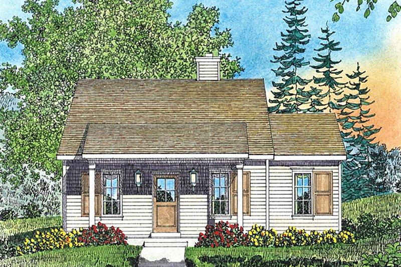 House Plan Design - Cottage Exterior - Front Elevation Plan #22-591