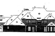 European Style House Plan - 5 Beds 4.5 Baths 5789 Sq/Ft Plan #310-350 Exterior - Rear Elevation