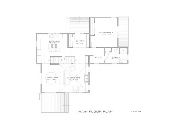 Modern Floor Plan - Main Floor Plan Plan #909-10