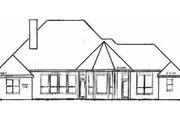 European Style House Plan - 4 Beds 3 Baths 2407 Sq/Ft Plan #52-110 Exterior - Rear Elevation
