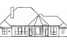 European Exterior - Rear Elevation Plan #52-110