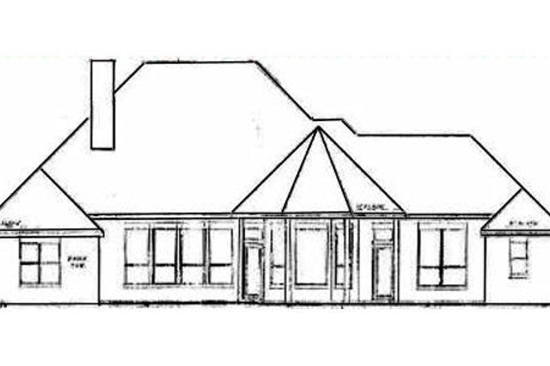 European Exterior - Rear Elevation Plan #52-110 - Houseplans.com