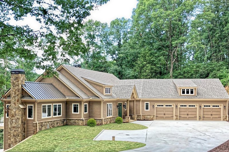 Architectural House Design - Craftsman Exterior - Front Elevation Plan #437-121