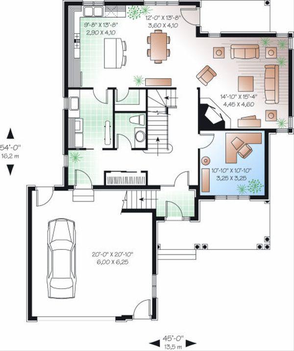 Victorian Floor Plan - Main Floor Plan Plan #23-842