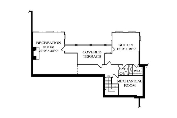 European Floor Plan - Lower Floor Plan Plan #453-21