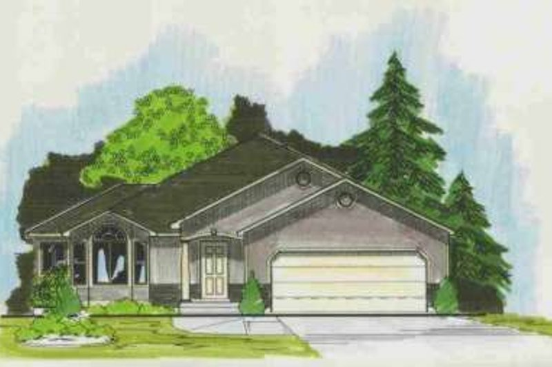 Traditional Style House Plan - 3 Beds 2 Baths 1530 Sq/Ft Plan #308-143