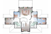 Beach Style House Plan - 4 Beds 3.5 Baths 4959 Sq/Ft Plan #23-854 Floor Plan - Upper Floor Plan