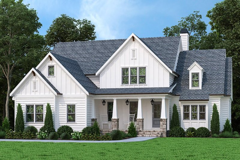 Farmhouse Style House Plan - 4 Beds 4 Baths 3009 Sq/Ft Plan #927-1011