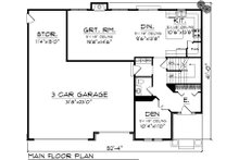 European Floor Plan - Main Floor Plan Plan #70-1100