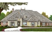 European Style House Plan - 3 Beds 3.5 Baths 3214 Sq/Ft Plan #310-657 Exterior - Front Elevation