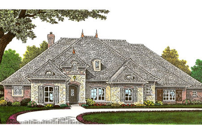 European Exterior - Front Elevation Plan #310-657