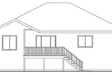 House Design - Country Exterior - Rear Elevation Plan #124-593