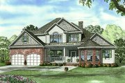 European Style House Plan - 4 Beds 3 Baths 3343 Sq/Ft Plan #17-1181 Exterior - Front Elevation