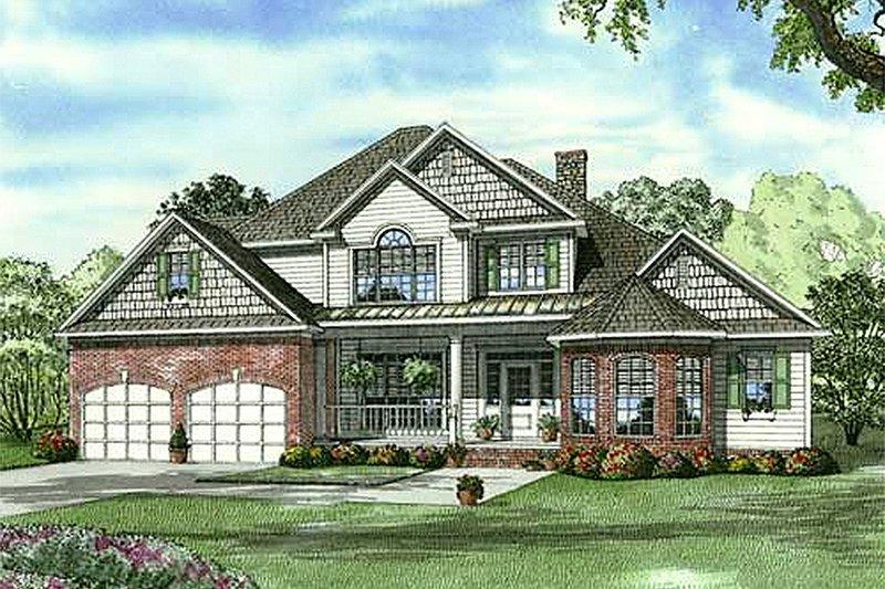 House Plan Design - European Exterior - Front Elevation Plan #17-1181