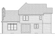 Craftsman Style House Plan - 4 Beds 2.5 Baths 1959 Sq/Ft Plan #46-470 Exterior - Rear Elevation