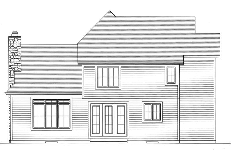Craftsman Exterior - Rear Elevation Plan #46-470 - Houseplans.com