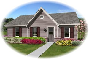 Ranch Exterior - Front Elevation Plan #81-13856