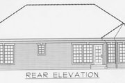 Traditional Style House Plan - 3 Beds 2 Baths 1368 Sq/Ft Plan #112-109 Exterior - Rear Elevation
