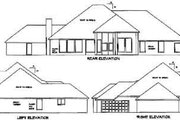 Traditional Style House Plan - 4 Beds 3 Baths 3766 Sq/Ft Plan #65-430 Exterior - Rear Elevation