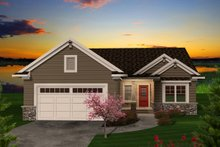 Ranch Exterior - Front Elevation Plan #70-1111