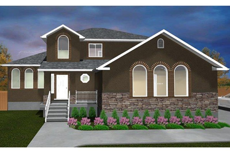 Architectural House Design - Traditional Exterior - Front Elevation Plan #1060-19