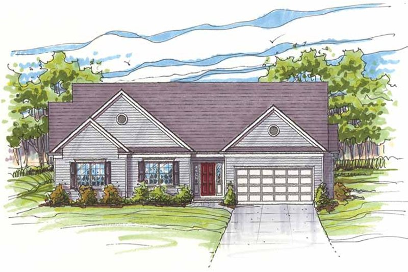 Traditional Exterior - Front Elevation Plan #435-16 - Houseplans.com