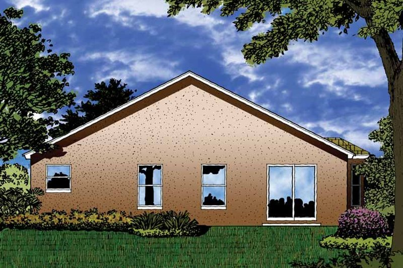 Contemporary Exterior - Rear Elevation Plan #1015-29 - Houseplans.com