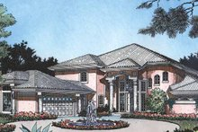 Home Plan - Mediterranean Exterior - Front Elevation Plan #417-476