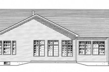 Colonial Exterior - Rear Elevation Plan #316-285
