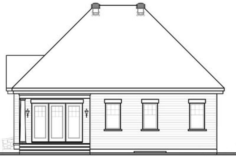 Traditional Exterior - Rear Elevation Plan #23-638 - Houseplans.com