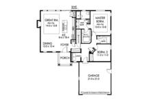 Ranch Floor Plan - Main Floor Plan Plan #1010-179