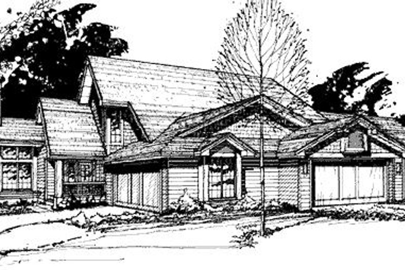 Traditional Exterior - Front Elevation Plan #320-443 - Houseplans.com