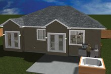 Ranch Exterior - Rear Elevation Plan #1060-9