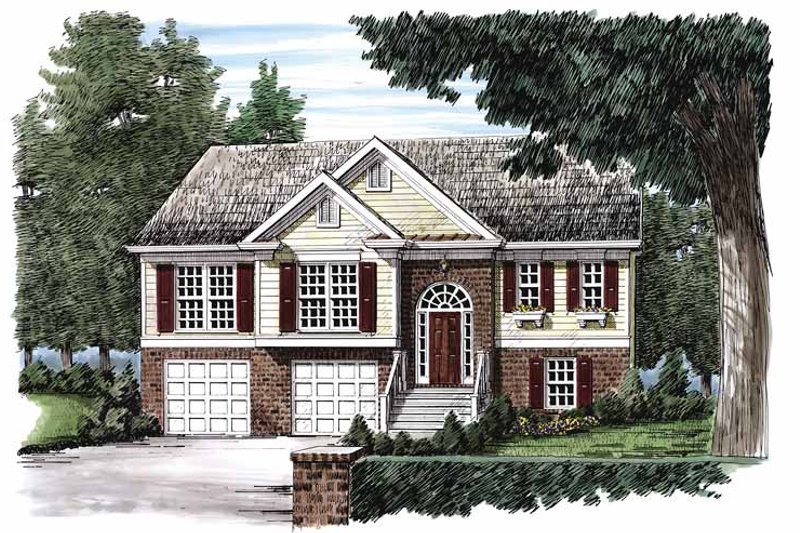 Colonial Exterior - Front Elevation Plan #927-204 - Houseplans.com