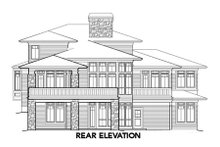 Architectural House Design - Prairie Exterior - Rear Elevation Plan #48-355