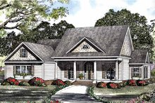 Classical Exterior - Front Elevation Plan #17-3181