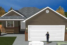 Ranch Exterior - Front Elevation Plan #1060-9
